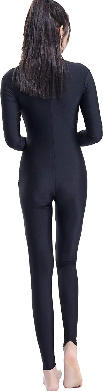 Speerise Adult Spandex Long Sleeve Turtleneck Unitard Bodysuit
