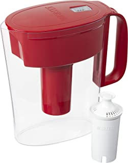 Brita Water Pitcher with 1 Filter, 5 Cup, Red