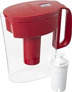 پارچ فیلتر آب کوچک 5 بریتانیا Brita با 1 فیلتر استاندارد ، BPA Free - Metro، Red