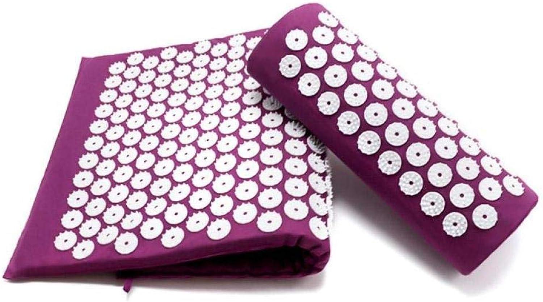 TSANG Yoga Matte Rückenmassagegert Akupunktur Massagekissen Yogamatte Pads Kissenmassage Akupunkturpunkt Entspannende DurchBlautung