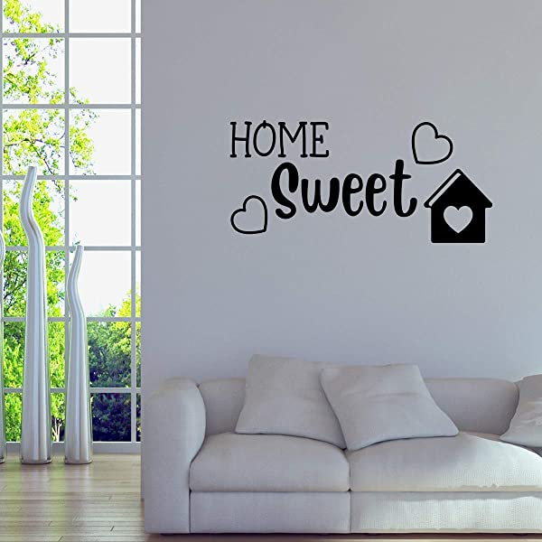 Basicor Home Sweet Wall Decal Sticker Quote Living Room Decor Y21