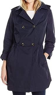 Lark & Ro Women's Double Breasted Coat Blue US Size Medium M Hooded