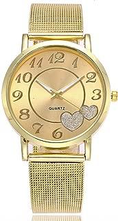 Triskye Women Analog Quartz Watches Luxury Business Casual Stainless Steel Band Wrist Watch Girls Ladies Round Bracelet Wristwatch with Simple Fashion Classic Time Mark Design
