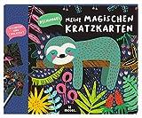 moses 3103 Mi mágica rascadora de la Jungla, 10 imágenes para rascar con lápiz de Madera, Juego de Pintura para Manualidades en cumpleaños Infantiles, para niños a Partir de 4 años, Multicolor