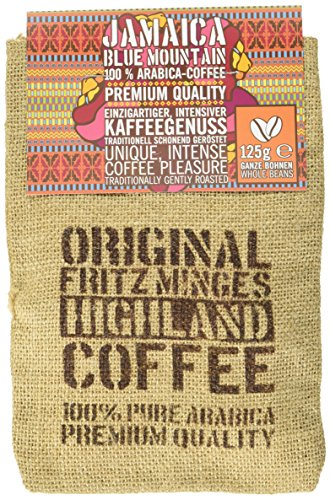 Fritz Minges Jamaica Blue Mountain in Bohnen, Jutesäckchen, 1er Pack (1 x 125 g)
