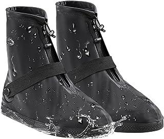 ANZOBEN シューズカバー レインブーツ 雨 水 雪 泥避け 梅雨対策 防水 滑り止め 耐摩耗 軽量 携帯可 靴カバー 履きやすい 通勤 通学 自転車用 男女兼用