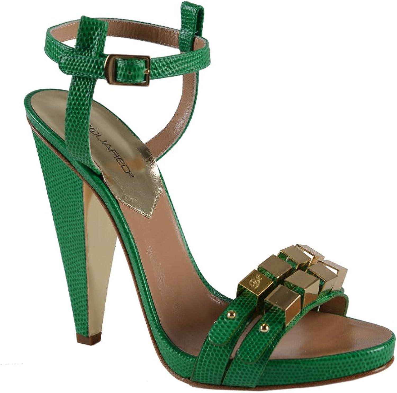 Dsquared Women's Green Ankle Strap Sandals shoes US 7 EU 37