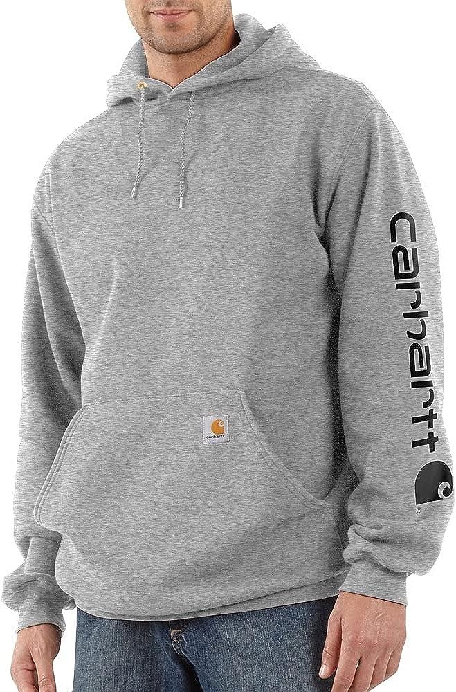 Carhartt Men's Midweight Sleeve Logo Hooded Sweatshirt (Regular and Big & Tall Sizes)
