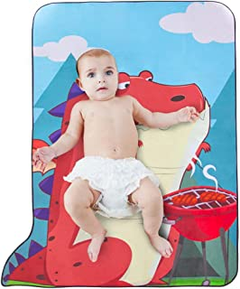Playmats for Baby -Dinosaur Rug for Nursery Gym Play Mat with Storage Bag-No Slip Baby Crawling Mats 53.5''X39.7''