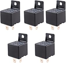 ESUPPORT Car Relay 12V 40A SPST 4Pin Switch Automotive Pack of 5