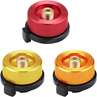 GOODGDN Conector de Estufa de Camping Adaptador de Botella de Gas Convertidor de Horno de Tipo Dividido para Cartucho de butano para atornillar Cartucho de Gas