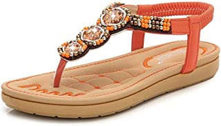 Summer Slippers Summer Sandals Women Retro Platform Shoes Lightweight Beach Pool Indoor Outdoor (Color : Orange, Size : 36)