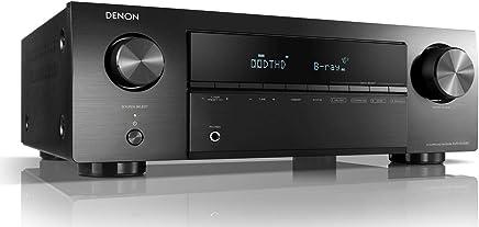 Denon AVR-X250BT 5.1 AV Receiver (130 Watts per Channel, 4K/Ultra HD, Bluetooth, Eco Mode, 5 HDMI Inputs) Black