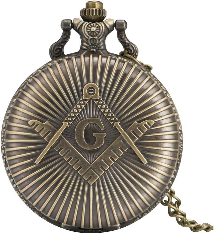 GANFANREN Pocket Watch With Chain Wa Year-end gift Pendant Necklace Super sale Bronze Fob