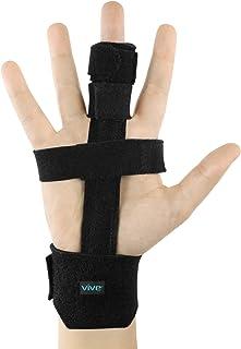 Best Vive Trigger Finger Splint - Full Hand and Wrist Brace Support - Adjustable Locking Straightener - Straightening Immobilizer Treatment For Sprains, Pain Relief, Mallet Injury, Arthritis, Tendonitis Review