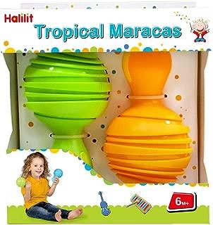 Edushape HL385 Halilit Maracas Toy Instrument, Tropical (Colors May Vary)
