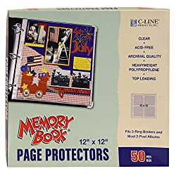Get page protectors for your yearbook (AFFILIATE)