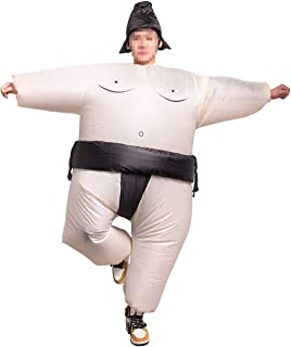 Inflatable Sumo Wrestler Suit Costume Adult Halloween Christmas Party Blow Up