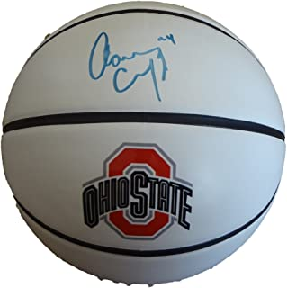 Aaron Craft Autographed Ohio State Buckeyes Logo Basketball W/PROOF, Pictures of Aaron Signing For Us, Ohio State Buckeyes, Final Four