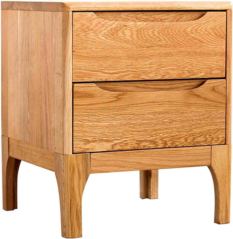 Bedside Table Stylish Solid Wood Bedside Table Bedroom Oak Bedside Table Locker Living Room Sofa Storage Side Table Study Small Desk Bedside Small Table (Size   42x40x50cm)