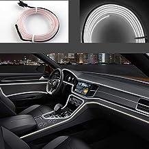 Rojo SODIAL 12V Inversor R 5M flexible del EL de alambre de la fiesta de neon del coche del LED luz del tubo de la cuerda