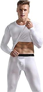 KAIXLIONLY Men Thermal Underwear Set Winter Skiing Hunting Gear Sport Long Johns Base Layer Bottom Top