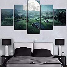 HPPTON A birthday present Modern Hd Home Decor Canvas 5 Pieces The Legend Of Zelda Pictures Game Painting Wall Art Prints Modular Poster For Living Room New Year gift-12x16/24/32inch,Without frame