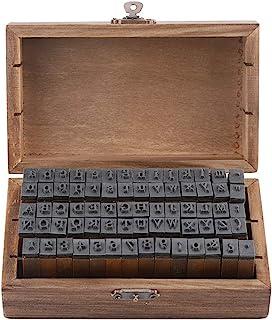 ختم الخشب المطاط 70 قطعة الأبجدية طوابع رسائل أرقام الرموز مجموعة، عتيقة طوابع ABC خشبية، يعلق على الخشب ختم مطاط مع مجموع...