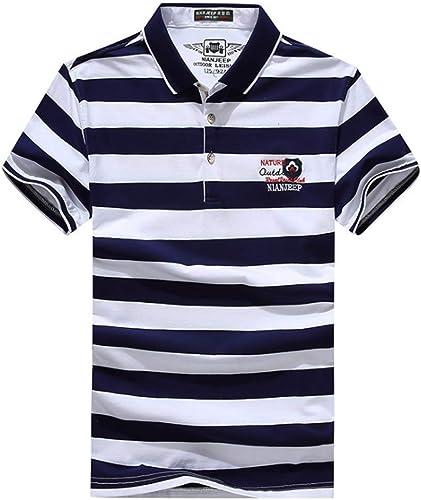 ChuangYing T-Shirt d'été Décontracté à Manches Courtes Hommes Top Hommes Slimming Man mode manche courte