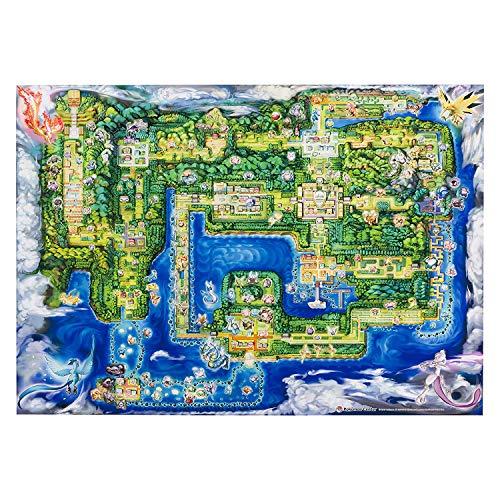 PC Pokemon Pika Vee B1 grootte Pokemon stad kaart Poster
