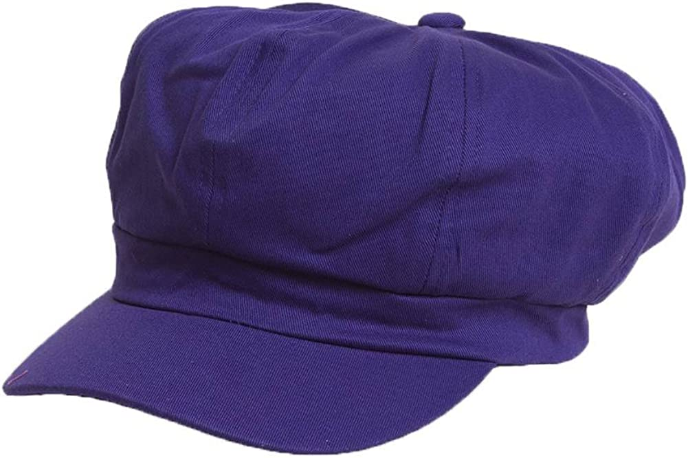 Free shipping Free shipping / New New Cotton Elastic Newsboy - Cap Purple