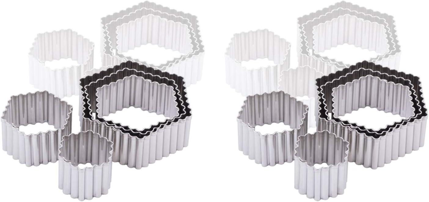 Ateco 5201 Aluminum 5 Piece Cutter Popularity Hexagon Fluted Set Japan Maker New Bakeware