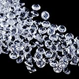 Faburo 3000 Petits Cristaux en Forme de Diamants pour Les décoration de Table 6mm,Mariage Décoration De Table À Saupoudrer Cristaux,Diamants