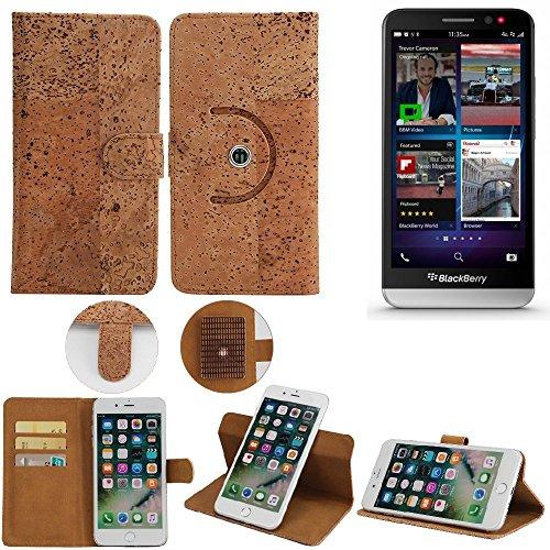 K-S-Trade® Schutz Hülle Für BlackBerry Z30 Handyhülle Kork Handy Tasche Korkhülle Handytasche Wallet Case Walletcase Schutzhülle Flip Cover Smartphone
