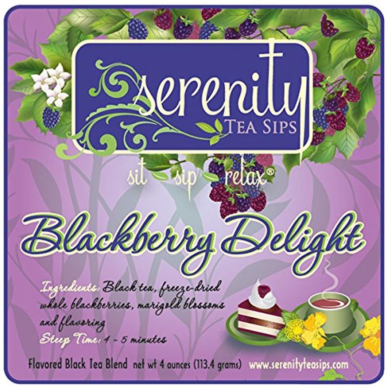 Serenity Tea Sips Blackberry Delight - 4 oz. Blackberry Flavored Loose Leaf Black Tea