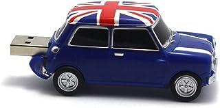 Homiki Memoria USB 2.0 Coche Vehículo PVC Plástico con Bandera de UK Pendrive Personalizados Originales Alta Velocidad (8G...