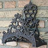 Esschert Design Gartenschlauchhalter Schlauchhalter Landhaus antik schwarz braun Guss Garten