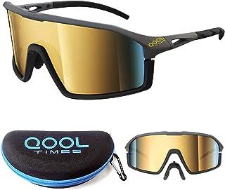 عینک آفتابی دوچرخه سواری QoolTimes Polarized for Men and Women، Volleyball Running Golfing MTB و ورزش در فضای باز