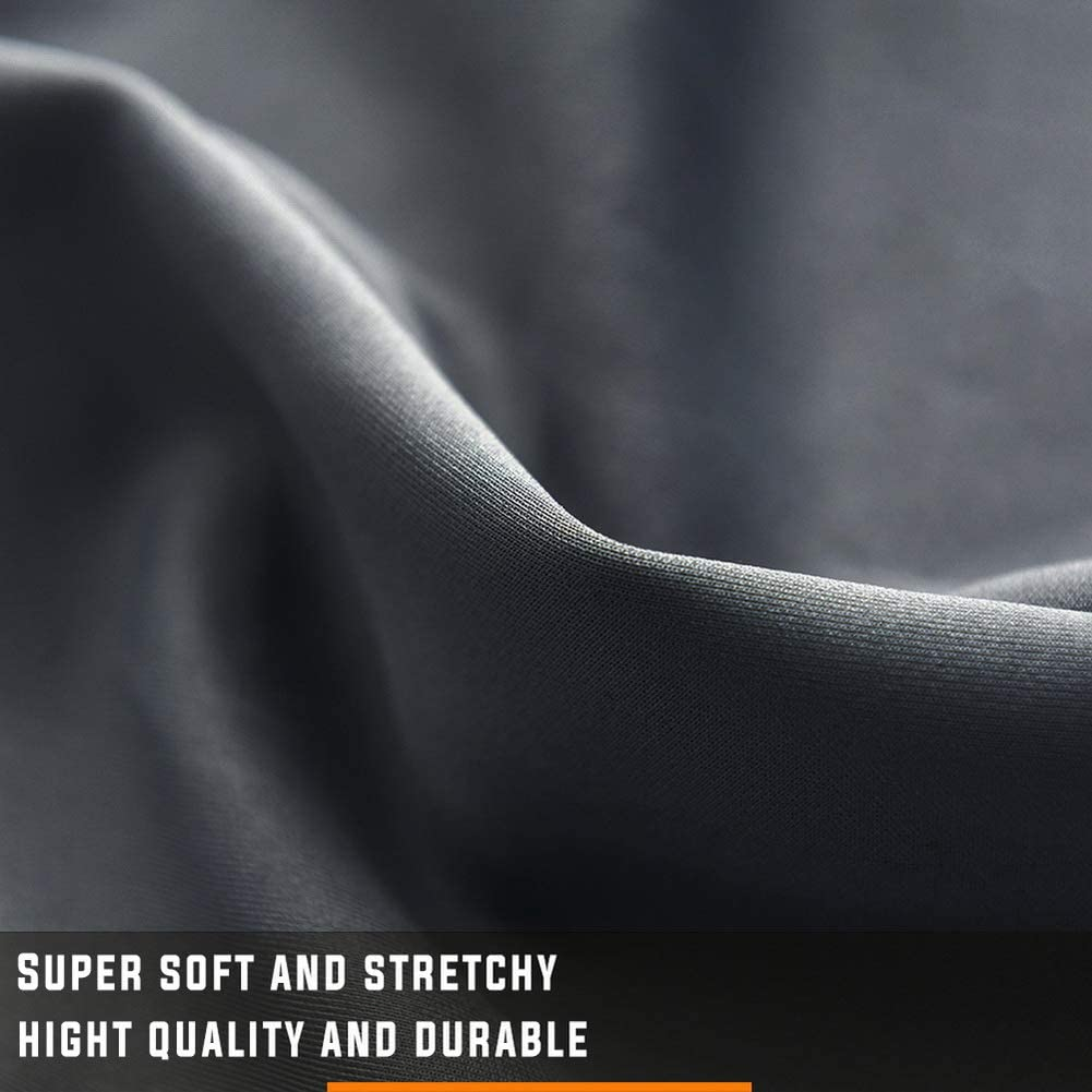 WdFour Box Spring Cover Hotel Quality Wrap Around Bed Skirts Elastic Cover Gray, Full//Full XL Mattress Protector Encasement