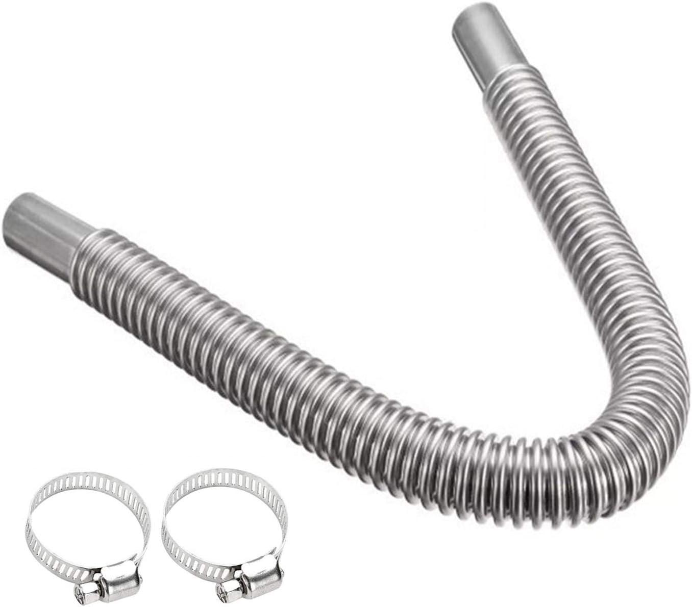 tubos de escape calefacci/ón de aparcamiento iBaste Calefacci/ón de estacionamiento de acero inoxidable tubo de escape de acero inoxidable 100//150//200//250//300 cm
