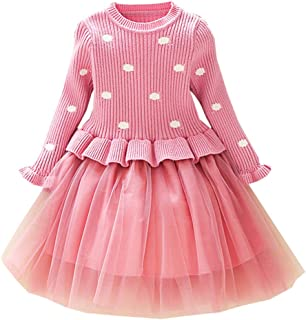 Fairy Baby Toddler Baby Girls Sweater Dress Knitted Tutu Playwear Princess Outfit Pullover