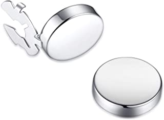 BUTTONCUFF Classic Button Covers - Imitation Cuff Links for Tuxedo, Business or Formal Shirts