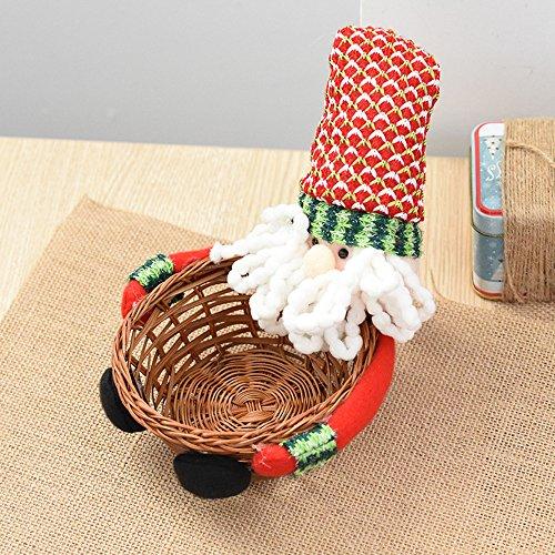 Weihnachtdeko Tischdeko Süßigkeiten Candy Korb Boxen Kinder Geschenkkorb Weihnachten Motiv Weihnachtsmann Rentier Schneemann Figur Puppe Aufbewahrungskörbe Behälter (A1)