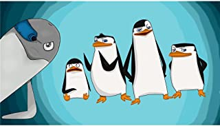 The Madagascar Penguins in a Christmas Caper (25inch x 14inch / 62cm x 35cm) Silk Printing - Silk Print Poster - AD3926