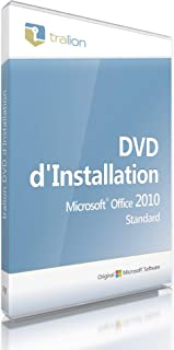 Microsoft® Office 2010 Standard, Tralion-DVD. 32/64 bit, incl. documents de licence,..