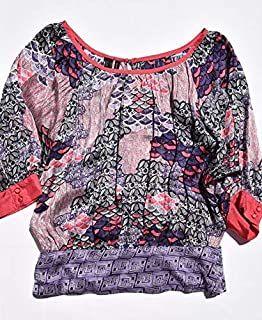 MANGO Multi Color Cowl Neck Blouse For Women