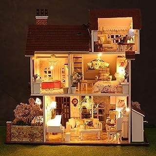 XYYDIY DIY Cabin Villa Assembled Handmade House Music Lighting Model Creative Birthday Gift Female