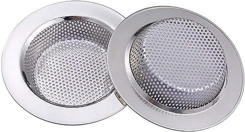 Yizhet 2 Pcs Filtre évier Cuisine, Filtre à évier en acier inoxydable, filtre en métal bain lavabo filtre pour salle ...