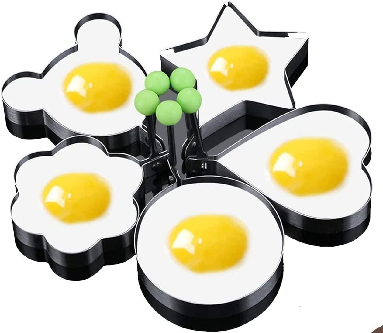 MENGMENG Sale special price Egg Rings Pancake Albuquerque Mall Fried Non-Stick Mold Shaper