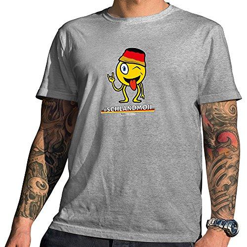 Hariz Pixbros Collection – Camiseta de manga corta para hombre, color gris, diseños a elegir, bandera de Alemania, incluye certificado Bang Sticks Pixbros11: Schlandmoji. XL